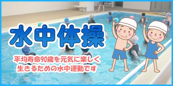 水泳体操 平均寿命90歳を元気に楽しく生きるための水中運動です